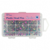 Hemline Plastic Head Pins - 38mm x 0.58mm - 600 pack